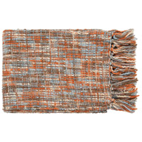Tabitha 60 X 50 inch Orange and Blue Throw