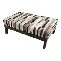 Trail Black and Brown Bench, Rectangle, Hand Crafted