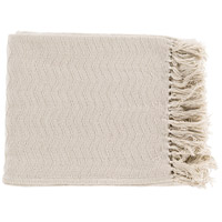 Surya THM6003-5060 Thelma 60 X 50 inch Off-White Throw