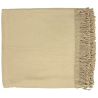 Surya TIA1000-5067 Tian Tian 67 X 50 inch Khaki Throw