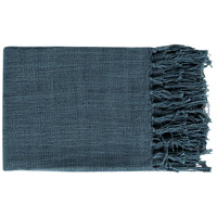 Surya TID001-5951 Tilda 59 X 51 inch Navy Throw