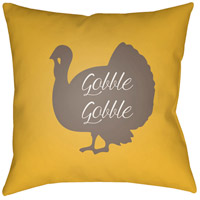 Turkey 20 X 20 inch Yellow and Brown Outdoor Throw Pillow