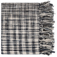 Tori 59 X 49 inch Charcoal Throw, Rectangle
