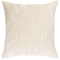Tansy 18 X 18 inch Cream and Butter Pillow Cover