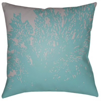 Textures 18 X 18 inch Sky Blue and Lavender Outdoor Throw Pillow