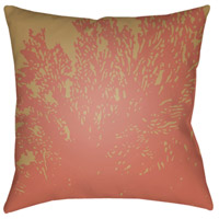 Textures 18 X 18 inch Rose Outdoor Throw Pillow