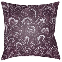 Textures 18 X 18 inch Bright Purple and Violet Outdoor Throw Pillow