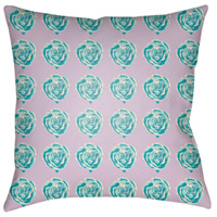 Warhol 18 X 18 inch Aqua and White Outdoor Throw Pillow