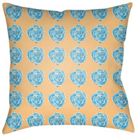 Warhol 18 X 18 inch Aqua and Butter Outdoor Throw Pillow