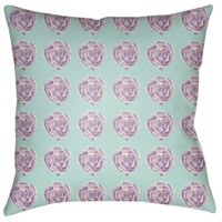 Warhol 18 X 18 inch Lavender and White Outdoor Throw Pillow