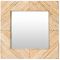 Surya WDL001-2424 Woodlands 24 X 24 inch Natural Wall Mirror Home Decor