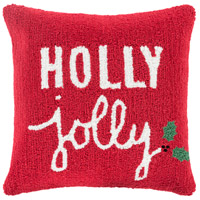 Winter Red and White Holiday Throw Pillow
