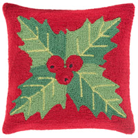 Winter Red and Red Holiday Throw Pillow