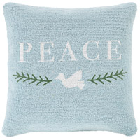 Surya WIT007-1818 Winter Blue and White Holiday Pillow Cover