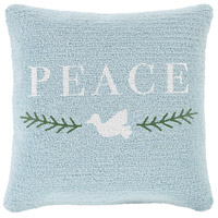 Surya WIT007-1818D Winter Blue and White Holiday Throw Pillow