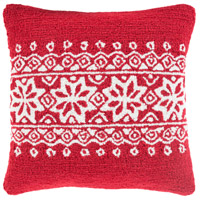 Surya WIT010-1818 Winter Red and White Holiday Pillow Cover