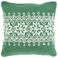 Surya WIT011-1818 Winter Green and White Holiday Pillow Cover