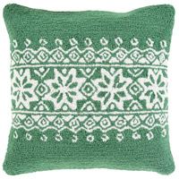 Surya WIT011-1818D Winter Green and White Holiday Throw Pillow