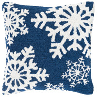 Winter Navy and White Holiday Throw Pillow