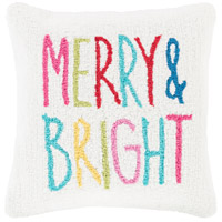 Winter White and Pink Holiday Pillow Cover