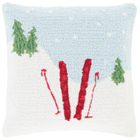 Winter Blue and White Holiday Throw Pillow