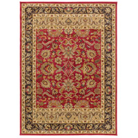 Willow Lodge 87 X 63 inch Red and Brown Area Rug, Polypropylene