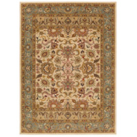 Willow Lodge 87 X 63 inch Neutral and Green Area Rug, Polypropylene