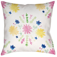 Surya WMAYO018-2020 Flores Burst 20 X 20 inch Pink and Yellow Outdoor Throw Pillow alternative photo thumbnail
