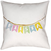 Fiesta Banner 20 X 20 inch Neutral and Brown Outdoor Throw Pillow