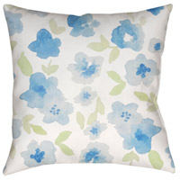 Surya WMOM001-2020 Flowers 20 X 20 inch Neutral and Blue Outdoor Throw Pillow alternative photo thumbnail