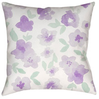 Surya WMOM005-2020 Flowers 20 X 20 inch Purple and Neutral Outdoor Throw Pillow alternative photo thumbnail
