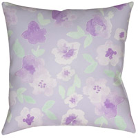Surya WMOM006-2020 Flowers 20 X 20 inch Purple and Green Outdoor Throw Pillow photo thumbnail