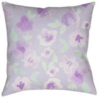 Surya WMOM006-2020 Flowers 20 X 20 inch Purple and Green Outdoor Throw Pillow alternative photo thumbnail