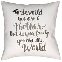 Youre The World 20 X 20 inch Black and Neutral Outdoor Throw Pillow