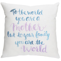 Youre The World 20 X 20 inch Neutral and Blue Outdoor Throw Pillow