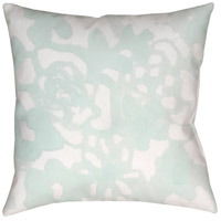 Surya WMOM026-2020 Flowers II 20 X 20 inch Green and Neutral Outdoor Throw Pillow photo thumbnail