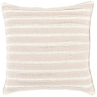 Willow 18 X 18 inch Brown and Off-White Pillow Cover