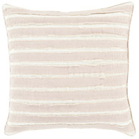 Willow 18 X 18 inch Taupe and Cream Throw Pillow