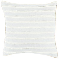 Willow 18 X 18 inch Blue and Off-White Pillow Cover
