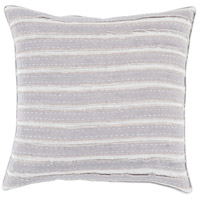 Willow 18 X 18 inch Grey and Grey Pillow Cover