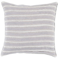 Willow 18 X 18 inch Medium Gray and Light Gray Throw Pillow