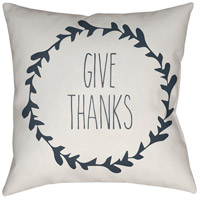 Wreath 20 X 20 inch White and Grey Outdoor Throw Pillow