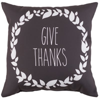 Wreath 20 X 20 inch Grey and White Outdoor Throw Pillow