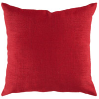 Storm 18 X 18 inch Red Outdoor Throw Pillow