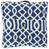 Storm 22 X 22 inch Navy and Off-White Outdoor Pillow Cover