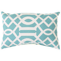 Storm 20 X 13 inch Blue and Off-White Outdoor Lumbar Pillow