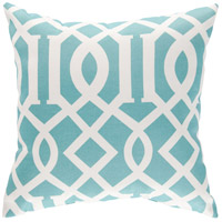 Storm 18 X 18 inch Blue and Off-White Outdoor Throw Pillow