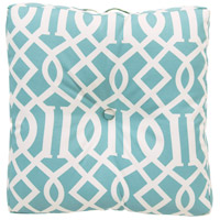 Storm 22 X 22 inch Blue and Off-White Outdoor Pillow Cover