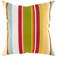 Storm 18 X 18 inch Yellow and Green Outdoor Throw Pillow