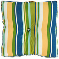 Storm 22 X 22 inch Navy and Green Outdoor Pillow Cover